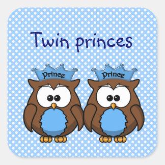 twin owl princes square sticker