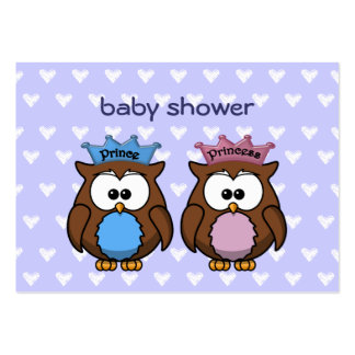 twin owl princess & prince pack of chubby business cards