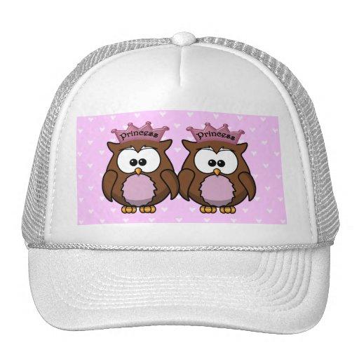 twin owl princesses mesh hat