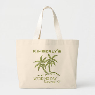 Twin Palm Trees Wedding Day Survival Kit Bag