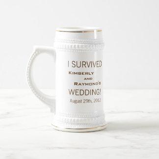 Twin Palm Trees Wedding Souvenir Stein Coffee Mugs