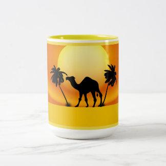 Twin Palms Camel Mug