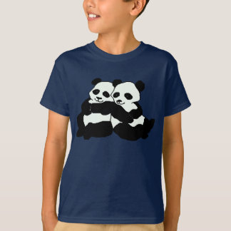 Twin Panda Bears Kids Shirt