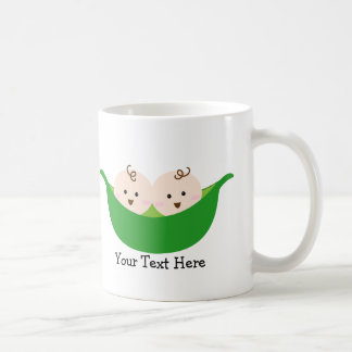 Twin Pea Pods (customizable) Coffee Mug