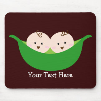 Twin Pea Pods (customizable) Mouse Mat