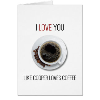 Twin Peaks coffee Valentines day card