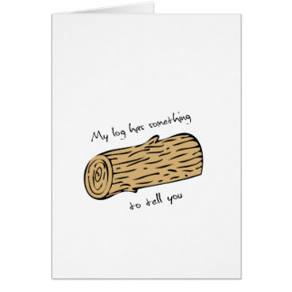 Twin peaks log Valentines day card