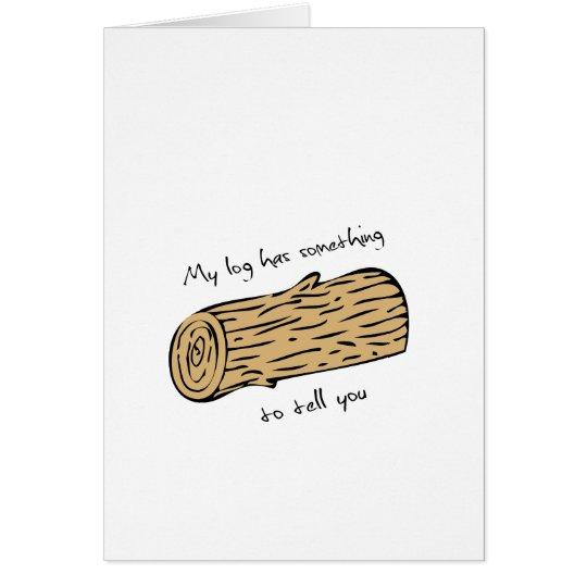 Twin peaks log Valentines day card