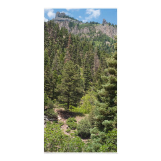 Twin Peaks Towers over Ouray, Colorado Customized Photo Card