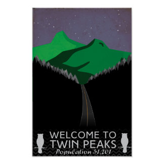 Twin Peaks Travel Poster