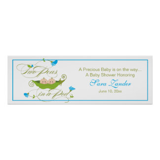 Twin Peas in a Pod  |  Ping Banner Print