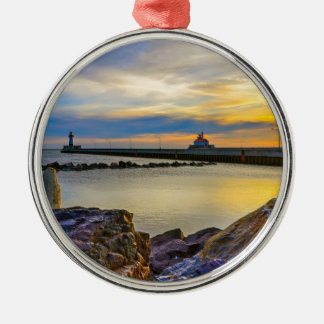 Twin Pier Morning Christmas Ornament