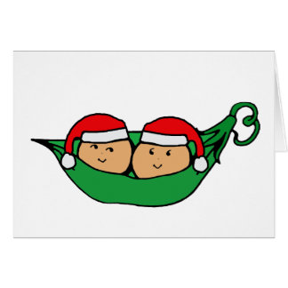 Twin Pod Christmas Graphic Greeting Card