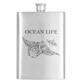 twin rays OCEAN LIFE Hip Flask