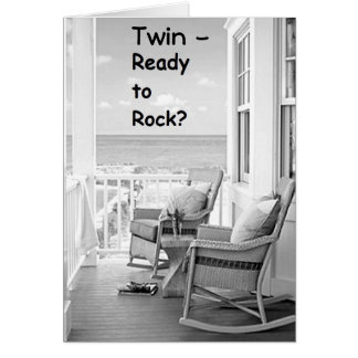 TWIN-READY TO ROCK/ROLL ON YOUR BIRTHDAY? GREETING CARD