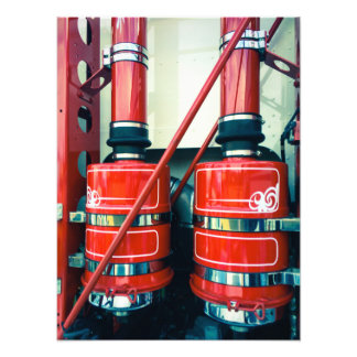 Twin Red Exhausts Photo Prints