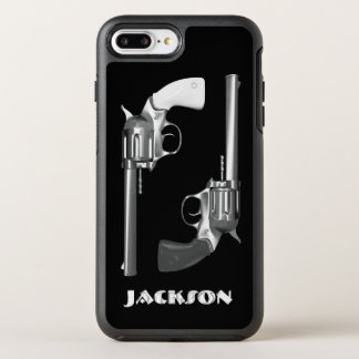 Twin Revolvers in Black and White OtterBox Symmetry iPhone 8 Plus/7 Plus Case