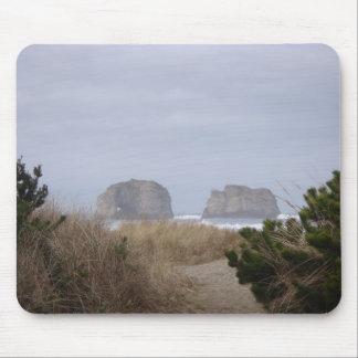Twin Rocks Rockaway Beach OR Mousepad