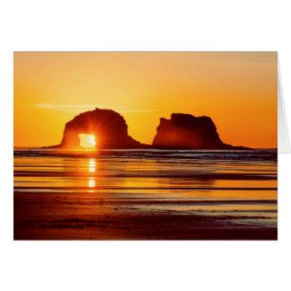 Twin Rocks Sunset Notecard Note Card