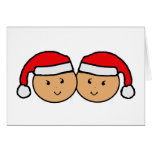 Twin Santa Hat Graphic Cards