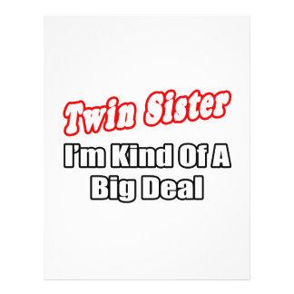 Twin Sister...Big Deal 21.5 Cm X 28 Cm Flyer