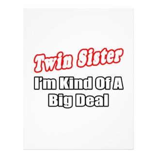 Twin Sister...Big Deal 21.5 Cm X 28 Cm Flyer