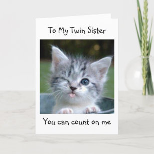 TWIN SISTER WONT TELL YOUR AGE HAPPY BIRTHDAY CARD