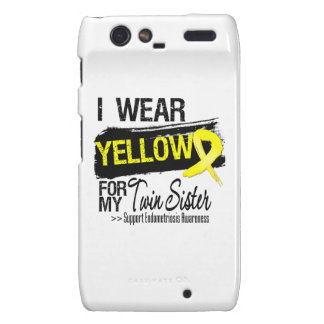 Twin Sister Yellow Ribbon Endometriosis Motorola Droid RAZR Case