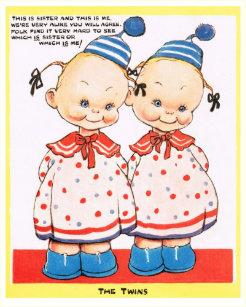 Twins birthday cards zazzle uk twin sisters happy birthday greeting card m4hsunfo