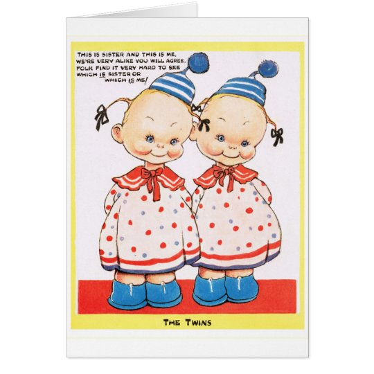 Twin sisters Happy birthday greeting Card