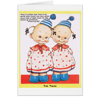 Twin sisters Happy birthday greeting Greeting Card