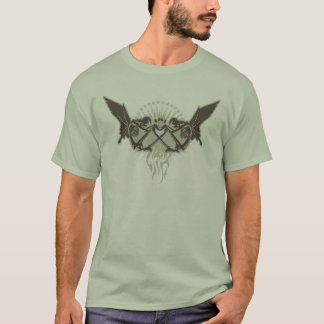 Twin Skeletal Angels T-Shirt
