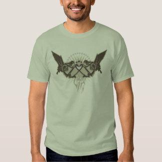 Twin Skeletal Angels Tee Shirt