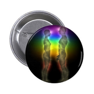 twin souls chakras first meeting 6 cm round badge