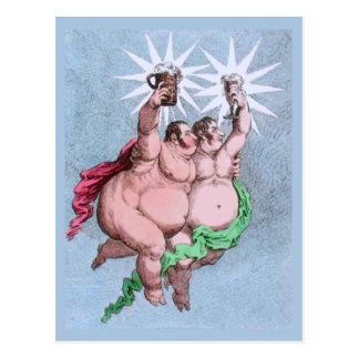 Twin Stars Castor and Pollux by Gillray Postcard