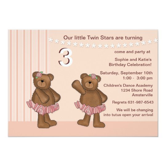 Twin Stars Invitation