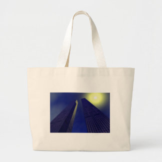Twin towers canvas bag