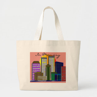 "Twin Towers, ""In Memory"" of 911 Canvas Bags"