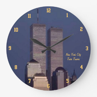 Twin Towers Large Clock