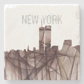 TWIN TOWERS, NEW YORK SKYLINE INDIRA STONE COASTER