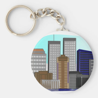 Twin Towers New York---Unique Art Gifts Key Ring