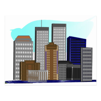 Twin Towers New York---Unique Art Gifts Postcards
