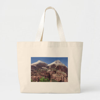 Twin Towers of the Virgin River, Zion Canvas Bags
