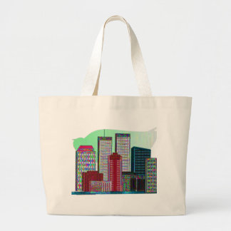 Twin Towers OIL PAINTING 1 Canvas Bag