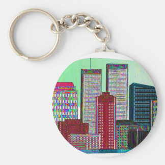 Twin Towers OIL PAINTING #1 Keychain