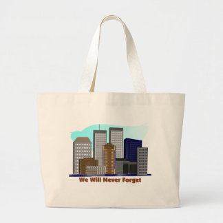 Twin towers we will never forget 911 canvas bag