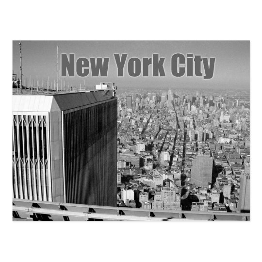 Twin towers World Trade Center NYC Postcard