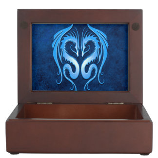 Twin Tribal Dragons, Blue Memory Boxes