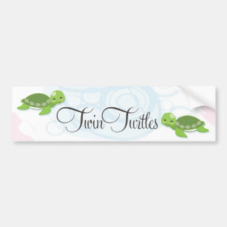 Twin Turtles Bumper Sticker  |  Girls