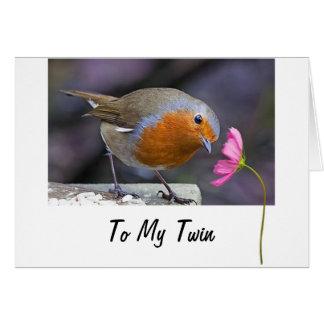 "TWIN ""TWEETING"" YOU A HAPPY BIRTHDAY CARD"